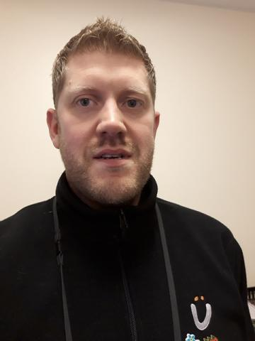 Housing Officer of the Month, Adam Pugh is pictured.