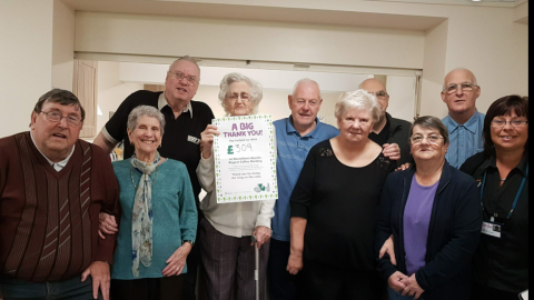 Pictured are residents from Pendrell Court, Codsall and their retirement living officer, Sharon Allen.