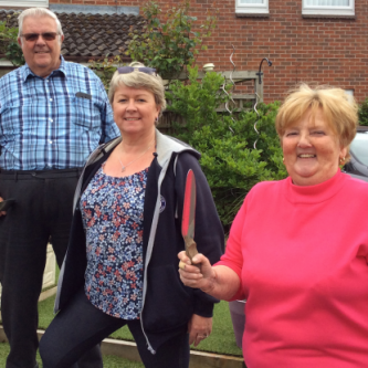 Diane Chandler with gardeners